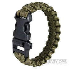 WEB-TEX SURVIVAL WRIST BAND PARA CORD OLIVE CAMPING EMERGENCY MILITARY ARMY