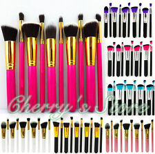 10pcs Professional Makeup Brushes Set Cosmetic Foundation Eyeshadow Brush Kabuki