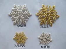 #3026 Golden,Silver Snowflake,Snow Embroidery Iron On Applique Patch