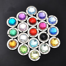 Lot New Fashion Crystal Folding Purse Hook Handbag Hanger Holder 18 Colors IN