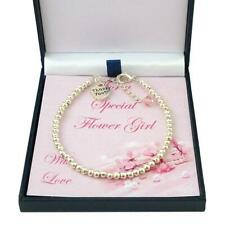 Thank you Gift for Flower Girl or Bridesmaid. Birthstone Bracelet. Gift Boxed.