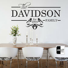 PERSONALISED Family Wall Art Quote Date - Wall Sticker, Decal, Transfer, Decor