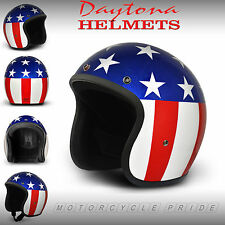 Captain America Open Face Helmet - Easy Rider 3/4 Helmet Low Profile - Daytona