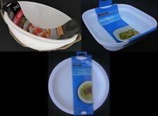 MICROWAVE COOKING DISHES & COVERS, SELECT: Bacon, Casserole, Omelette or Potato
