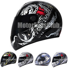 Adult Motorcycle Scooter Full Face Helmet Visors DOT Motocross Racing Gear M-XL