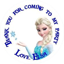 Personalised Frozen Labels/Stickers, Choice of 8 Sizes and Shapes