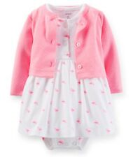 Carters Baby Girls 2-Piece Dress & Cardigan Set 3 6 9 12Months Outfit Clothes