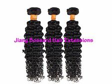3 Bundles 100% Virgin Indian Human Hair Black kinky curly Unprocessed 300g 6A