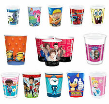 Disney & Kids TV Character Birthday Party Celebration Cups 8 & 10 Pack Brand New