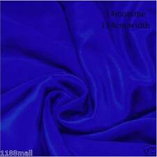"""#6 electric blue pure silk dress fabric 45"""" wide 14momme crepe de chine cloth"""