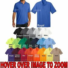 Mens Cotton/Poly Moisture Wicking Polo Shirt Golf Easy Care S-XL NEW!