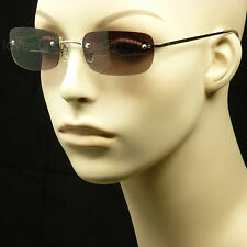 BIFOCAL READING SUNGLASSES GLASSES LENS RIMLESS MEN WOMEN SPRING HINGE FRAME MM