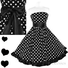Polka Dot Rockabilly 50s Full Skirt Swing Dress S M L Xl Xxl 1X 2X 3X New Plus