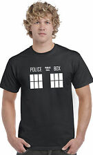 Police Box Dr Who T Shirt Top Short Sleeve Dalek Tardis Doctor BBC