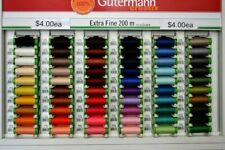 Gutermann Extra Fine Polyester Sewing Thread 200m Spool, Please Select Colour