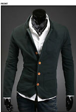 Fashion Men's Casual Slim Stand Collar Buckles Suit Coat Jackets 4 Colors HOT!