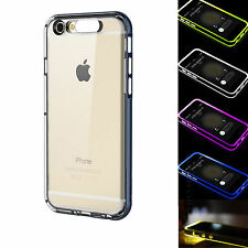 Rock Incoming Call LED Flash Bumper TPU Case Cover For iPhone 5/5S 6 6 Plus