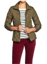 NWT WOMENS S XL PXL XXL OLD NAVY QUILTED ZIP JACKET FOREST FLOOR GREEN COAT