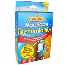 New Hanging Wardrobe Dehumidifier Home Damp Mould Mildew Condensation Remover
