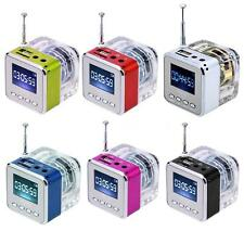 Portable Mini HiFi Speaker USB LINE IN Music MP3/4 Player SD/TF FM Radio Clock