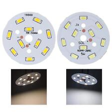 DC 15-17V 5W Round 10 5730 SMD LEDs Super Bright LED Chip Lamp Bulb White Light