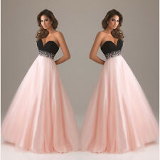 Ladies Prom Bridesmaid Sweetheart Evening Formal Party Gown Lace Dresses 6-12