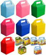 10 Childrens Kids Birthday Coloured Lunch Box Wedding Party Food Gift Loot Bag