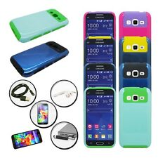 DUO LAYER COVER NEST CELL PHONE CASE SAMSUNG GALAXY PREVAIL LTE + ACCESSORY SET