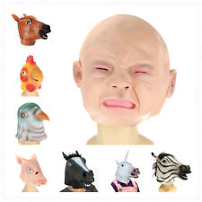 Animal Head Mask Halloween Costume Theater Prop Novelty Latex Rubber Party Dress
