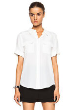 2015 New Equipment Slim Signature Short Sleeve Blouse, Silk Shirt, Size XS/S/L