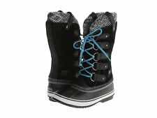 SOREL Joan of Arctic BLACK SUEDE BOOTS Knit  Womens US 5.5 7.5 8 8.5 9 9.5 10
