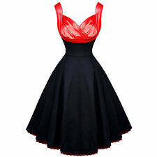 H & R 9424 Hot on Top Dress Black Red Satin Marilyn Sexy pinup vintage inspired