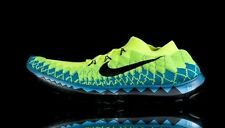 Nike FREE FLYKNIT 3.0 - 636232 700 - New Mens Green Blue Running Shoes Sneakers