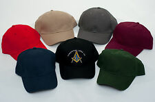 Custom Embroidered Masonic Blue Lodge Baseball Hat Cap