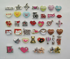 Floating Charms for Lockets - LOVE, HEARTS, VALENTINES DAY