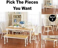 PICK YOUR DINING SET Kitchen Room Sets Dinette Bench Chair Table Chairs White