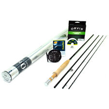 """NEW - Orvis Superfine Carbon Fly Rod Outfit 1wt 7'6"""" - FREE SHIPPING!"""