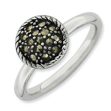Marcasite Ring .925 Sterling Silver Size 5-10 Stackable Expressions