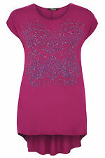 Plus Size Womens Caviar Beaded Top With Sequin Detail And Godet Back