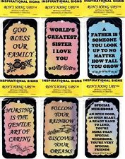 INSPIRATIONAL CHRISTIAN RELIGIOUS FAMILY FRIENDSHIP SAYING SIGNS PLAQUES #1