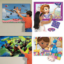 DISNEY CHILDREN PARTY GAMES GIRLS BOYS FUN PIN THE TAIL DOOR SLEEP OVER KIDS