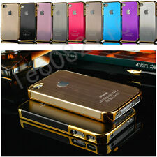Luxury Aluminum Hard Brushed Metal Case Cover for iPhone4 4S Free Screen Protect