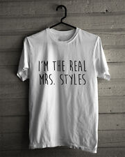 The Real Mrs Harry Styles T Shirt Unisex Adults Clothing Tee One Direction 1D