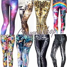 Womens Sexy 3D Digital Graphic Top Design Printed Pattern Leggings Tight Pants