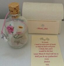 PERSONALISED WILL YOU BE MY GODMOTHER GODFATHER MESSAGE IN A BOTTLE POEM GIFT