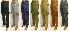 Men's AMONGST OTHERS black grey navy green khaki camel cargo pants style AO-700B