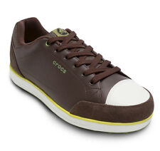 Crocs Karlson Spikeless Golf Shoes - Espresso/Citrus - All sizes! Retail $130!