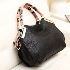 Fashion Womens OL Business Croco Design Evening Tote Handbag Shoulder Bag Purse