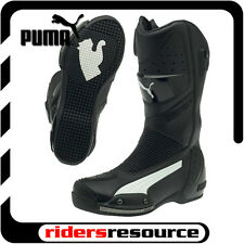Puma Mens Desmo Race Street Motorcycle Boots Black White