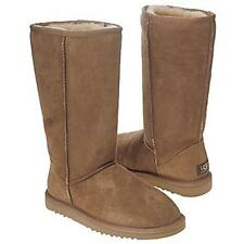 UGG Australia Classic Tall Dress Boots Chestnut Womens Sheepskin Wool Suede 5815